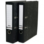 Ordner budget 80 mm A4 karton gewolkt zwart