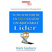 Nu ai nevoie de un titlu ca sa fii un adevarat lider/Mark Sanborn