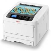 Imprimanta laser color Oki C824dn, A3, 26 ppm, Duplex, Retea (Alb/Negru)