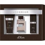 s.Oliver Perfumes masculinos Superior Men Set de regalo Eau de Toilette Spray 30 ml + Shower Gel & Shampoo 75 ml + Deodorant Spray 50 ml 1 Stk.