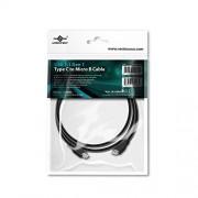 Vantec USB 3.1 C/Micro B 1m Cable USB (1 m, USB C, Micro-USB B, 3.0 (3.1 Gen 1), Male Connector/Male Connector, Negro)