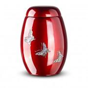 Rode Glasfiber Urn Vlinders (3.7 liter)