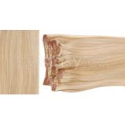 Clip in vlasy odstín 24/613 Sada: Základní - délka 50 cm, hmotnost 100 g