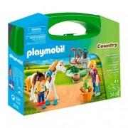 Playmobil - Maletín Grande Cuidado de Caballos - 9100