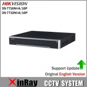 HIKVISION POE NVR DS-7716NI-I4/16P DS-7732NI-I4/16P With 16CH POE H.265 12MP NVR Support Alarm and Audio Output