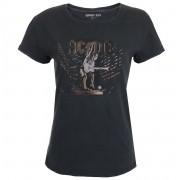 tricou stil metal femei AC-DC - BLACK - - 181G2T014