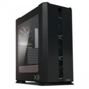 Кутия за настолен компютър Zalman X3 ZM-X3-BLACK, черна, ZM_X3_VZ