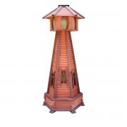 Gartenlaterne Drew-Handel LA71 Laterne mit Beleuchtung aus Nadelholz bedeckt mit einer witterungsbeständigen Imprägnierung