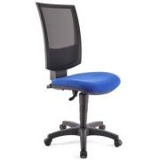 Ofisillas Silla de oficina PANDORA SIN BRAZOS, respaldo ajustable, color azul