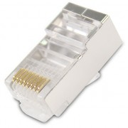 UTP Connector, VCOM UTP connectors Cat6 STP/Shielded/RJ45, 20pcs pack (NM026-20pcs)