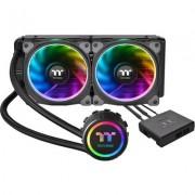 Охладител за процесор THERMALTAKE Floe Riing RGB 240 TT Premium Edition, течно охлаждане, Intel/AMD