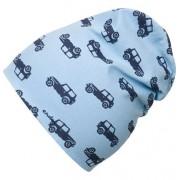 Endo Czapka wiosenna dla chłopca, niebieska w samochody
