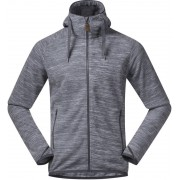 Bergans Hareid Fleece Jacket Herr aluminium melange 2019 M Fleecetröjor