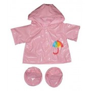 Stuffems Toy Shop Pink Raincoat w/Boots Outfit Teddy Bear Clothes Fits Most 14 18 Build-A-Bear, Vermont Teddy Bears, and Make Your Own Stuffed Animals by