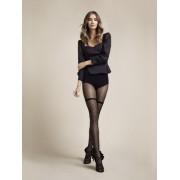 Fiore Patty - Mock hold up tights with diamond pattern