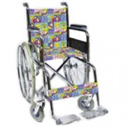sedia a rotelle / carrozzina pieghevole - portata 100kg - per bambini