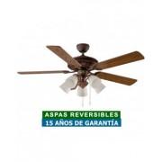 CasaFan Ventilador De Techo Con Luz Casafan 513233 Centurion 132 Roble Antiguo O Nogal / Bronce