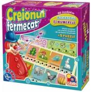 Joc educativ - Creionul fermecat - Sa invatam alfabetul si numerele + puzzle 24 piese