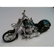 "5 1/2"" Black Iron Chopper Free Wheelin Motorcycle Toy"