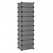 [neu.haus]® Polica s 10 skrinkami - sivá - DIY variabilný systém - model 7