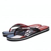 Lichtgewicht casual Fashion outdoor Teenslippers strand schoenen voor mannen (kleur: rood maat: 42)