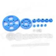 C-232 23-in-1 de plastico DIY Motor Gear Set - blanco + azul profundo