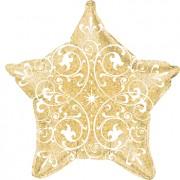 grabo FilIgree Holographic Gold Foil Star 21in/53cm