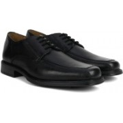 Clarks Driggs Walk Black Leather Lace Up For Men(Black)