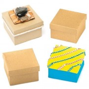 Square Craft Boxes For Children To Decorate For Mothers Day (Pack Of 6)