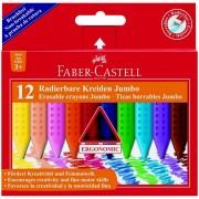 Creioane colorate plastic 12 culori/set FABER-CASTELL Jumbo Grip