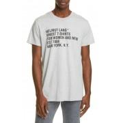 Helmut Lang Graphic Crew Neck Knit T-Shirt VAPOR HEAT