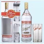 Stolichnaya Vodka dd. 1,5L 40% + 2 pohár