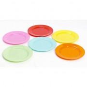 Geen Gekleurde plat stevig ontbijtbord voor kinderen 20 cm