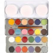 Eulenspiegel ansiktsfärg, 24 färg, mixade färger