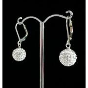 Lafira stříbrné náušnice Swarovski Ball Crystal 002