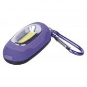 EMOS LED přívešek na klíče s karabinkou - fialová P3387