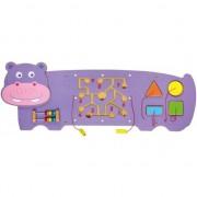 Jucarie pentru copii, Viga Toys, Hippopotamus, Multicolor, Lemn, 12 luni +