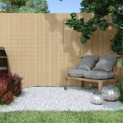 Jarolift Canisse en PVC Premium, largeur des lamelles 17 mm, Bambou, 140x500 cm