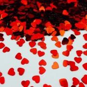 Confetti din folie cu inimioare rosii pentru party si evenimente, radar spc.f.rh