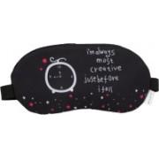 Skylofts Most Creative Stylish Eye Masks with Ice Pack Sleeping Mask for Travelling Eye Shade(Black)