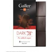 Galler Chocolade Tablet Puur 78% Suikervrij - 10 x 80 gram