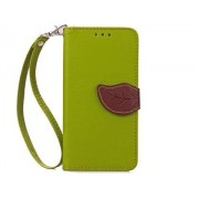 Slim Synthetic Leather Wallet Case with Stand for HTC Desire 520 - HTC Leather Wallet Case (Green/Brown)