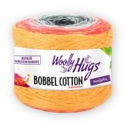 Woolly Hugs Bobbel Cotton von Woolly Hugs, Orange/Rot/Weiß/Anthrazit