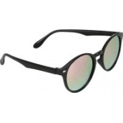 David Martin Oval Sunglasses(Pink, Silver)