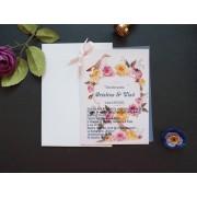 Invitatie nunta carton metallics si film foto OPIS046