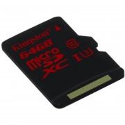 Tarjeta De Memoria Flash Kingston Digital De 64GB MicroSDXC UHS-I Speed Class 3 (SDCA3 / 64GBSP) Negro