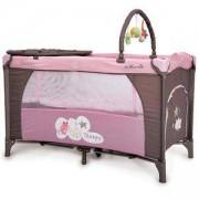 Детска кошара на 2 нива Sleepy, Moni, розова, 356184