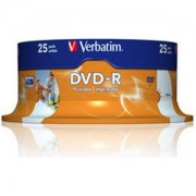 DVD-R Verbatim Wide Photo Inkjet Print 120min./4,7Gb 16X (Printable) - 25 бр. в шпиндел