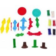 Set Color Dough Lumea Dinozaurilor 22 de accesorii Plastilina Multicolor