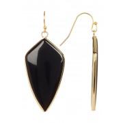 Panacea Onyx Short Arrow Drop Earrings BLACK